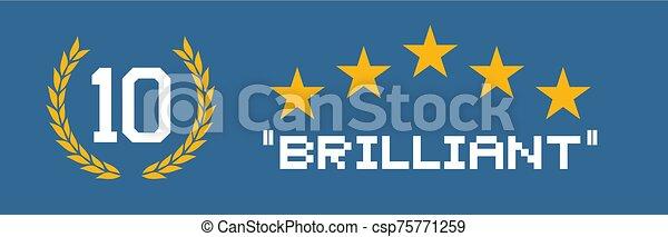 brillante, blu, bandiera - csp75771259