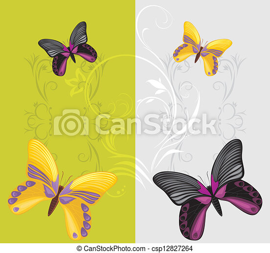 Mariposas brillantes - csp12827264