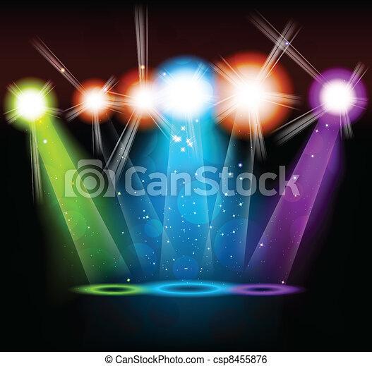 Un fondo brillante - csp8455876