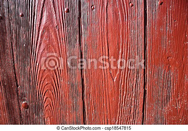 Trasfondo de puerta roja brillante - csp18547815