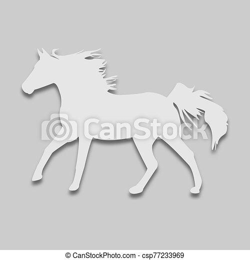 brillante, tono, animal, caballo - csp77233969