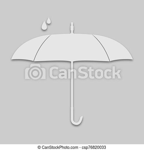 brillante, tono, lluvia, paraguas - csp76820033