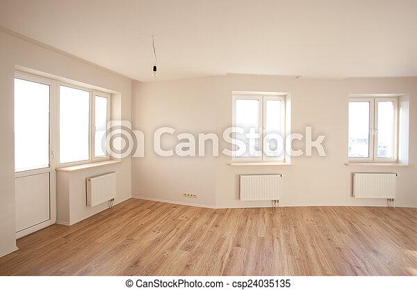 Habitación brillante vacía con ventana - csp24035135