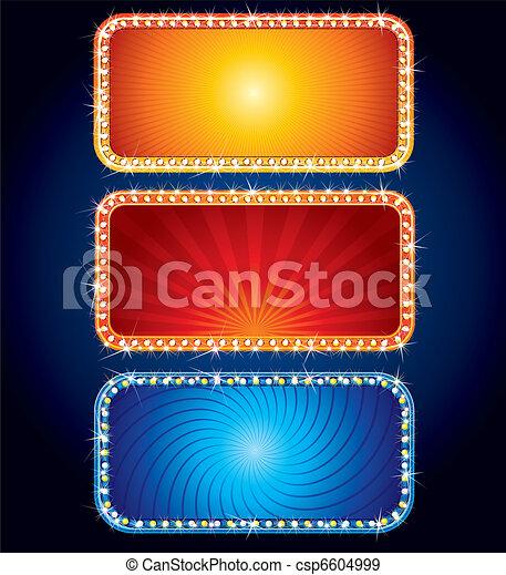 Señales brillantes de neón - csp6604999