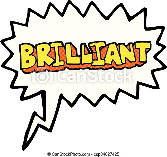 brilliant comic book speech bubble cartoon word brilliant freehand rh canstockphoto com word bubbles clip art that i can fill in speech bubble clipart on word
