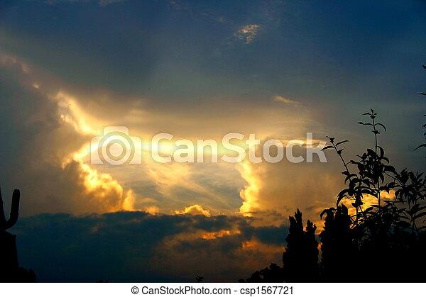 brilliant evening sky - csp1567721