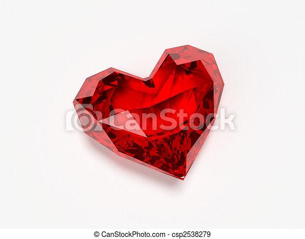 brilliant heart - csp2538279