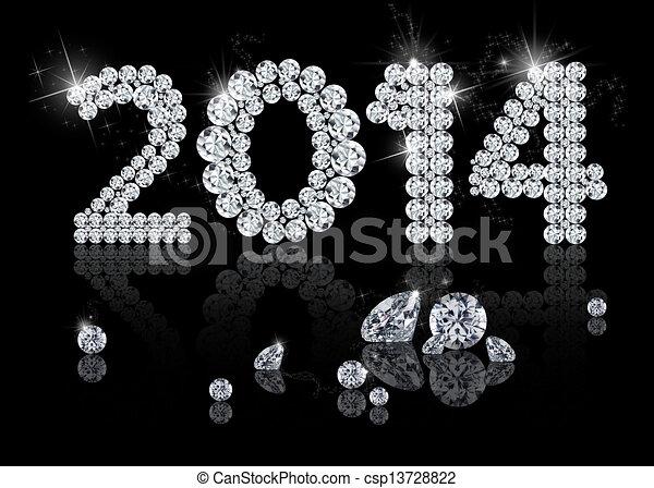 Brilliant New Year 2014 - csp13728822