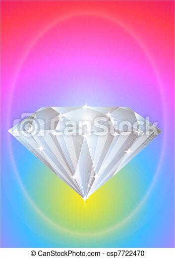 brilliant precious diamond on bright background  - csp7722470