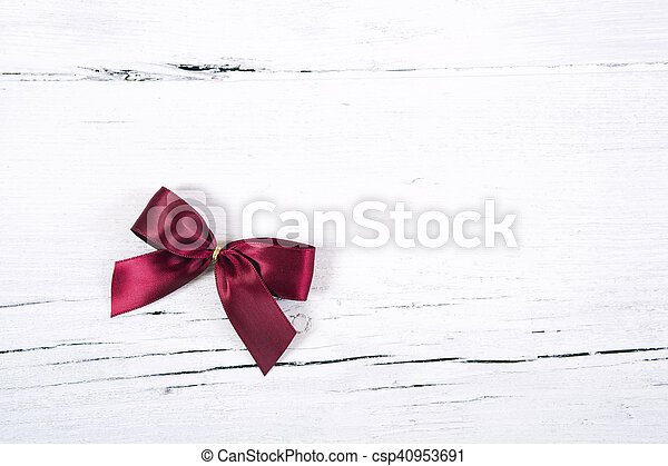 Brilliant red bow - a Christmas orn - csp40953691