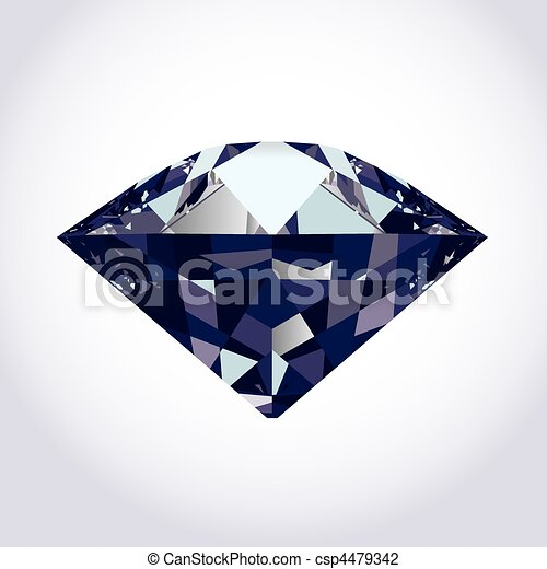 brilliant vector diamond - csp4479342