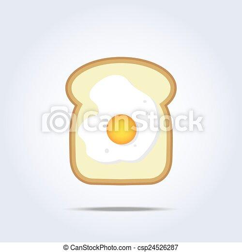 brinde, branca, ícone, incite pão - csp24526287