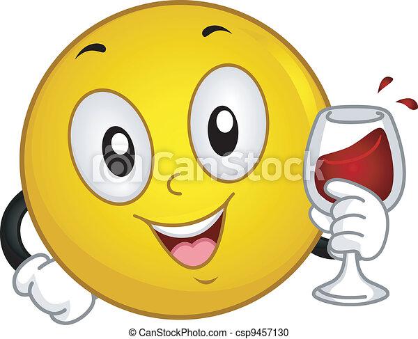 brinde, smiley - csp9457130