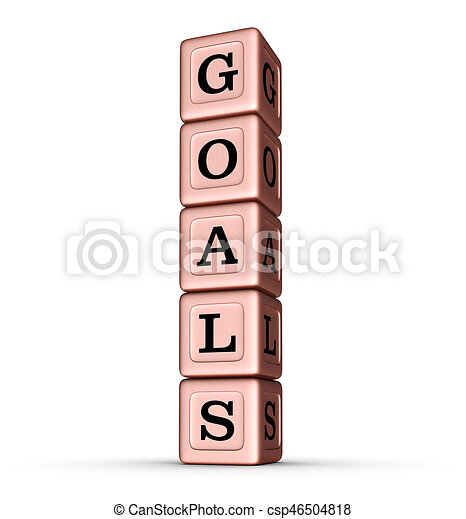 brinquedo, palavra, ouro, vertical, rosa, sinal., metálico, metas, blocks., pilha - csp46504818