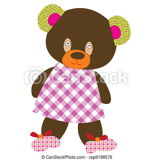 brinquedo, urso, pelúcia - csp9198576