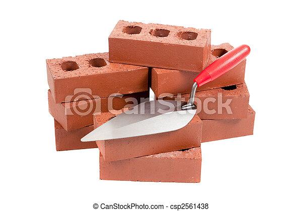 briques, mason\'s, truelle - csp2561438
