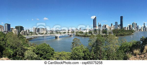 Brisbane Panoramic Landscape View - csp65075258