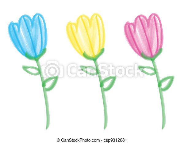 Bristle Brush Tulips - csp9312681