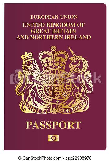 Pasaporte británico - csp22308976