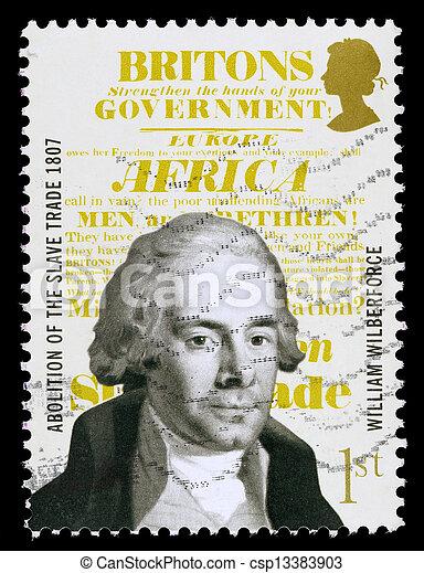 Britain William Wilberforce Postage Stamp - csp13383903