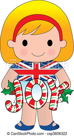 British Christmas Girl - csp3606322