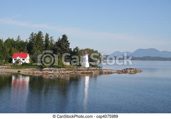 British Columbia Lighthouse - csp4075989