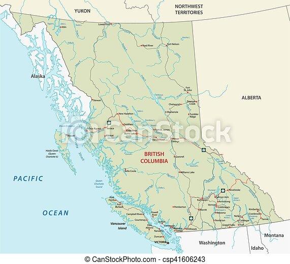 british columbia road map - csp41606243