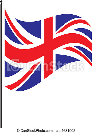 flapping british flag vector search clip art illustration rh canstockphoto com waving british flag clip art free clipart british flag