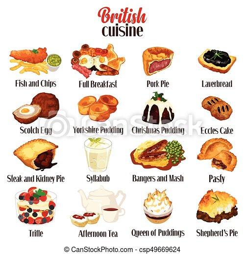 Cuisine Illustration a vector illustration of british food cuisine.
