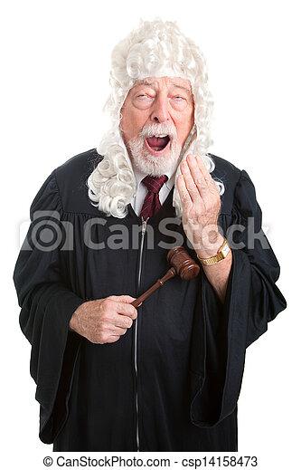 British Judge - Bored - csp14158473