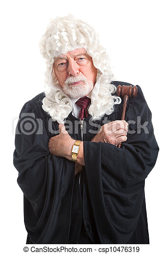 British Judge - Stern and Serious - csp10476319