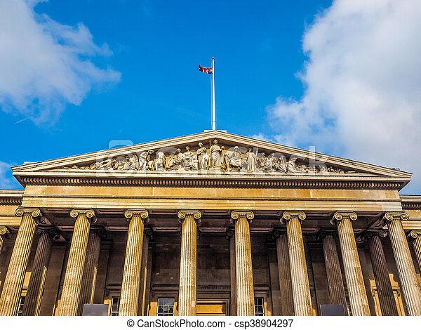 British Museum in London HDR - csp38904297