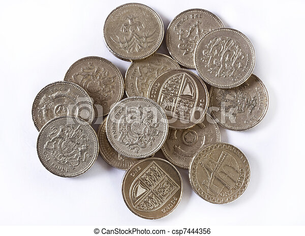British pounds coins