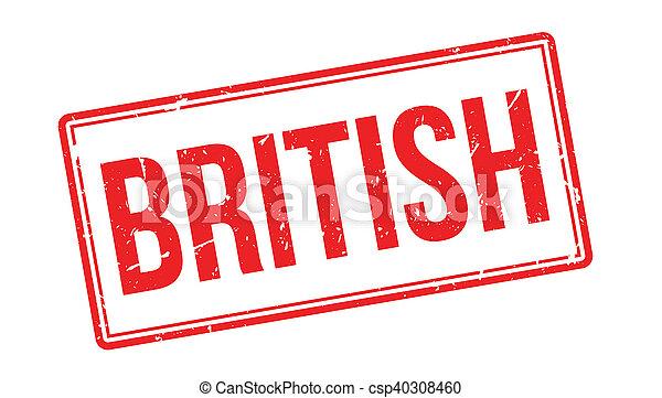 British rubber stamp - csp40308460