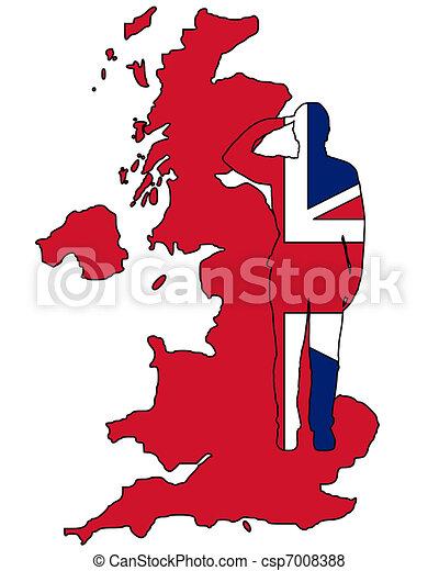 British Salute - csp7008388