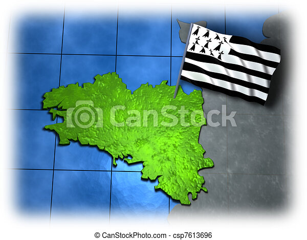 Brittany with its own flag - csp7613696