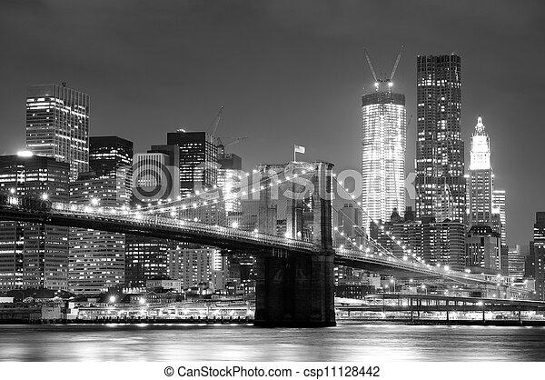 bro, brooklyn, stad, york, färsk - csp11128442
