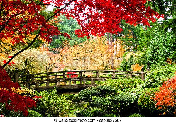 bro, trädgård - csp8027567