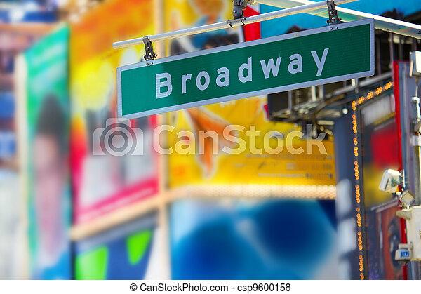 Broadway street sign - csp9600158