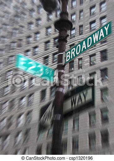 broadway, zeichen - csp1320196