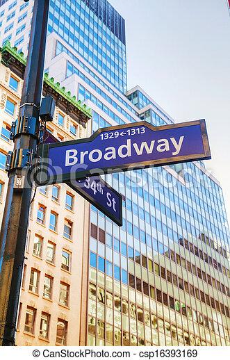 broadway, zeichen - csp16393169