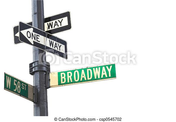 broadway, zeichen - csp0545702