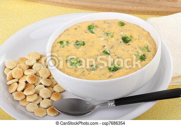 Broccoli and Chedar Soup - csp7686354