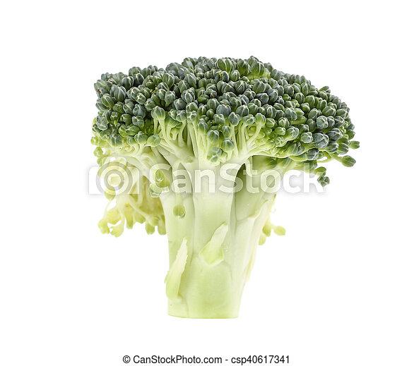 Broccoli isolated on white background - csp40617341