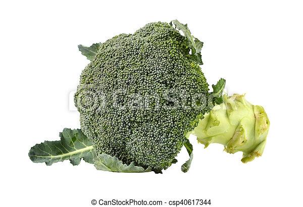 Broccoli isolated on white background - csp40617344
