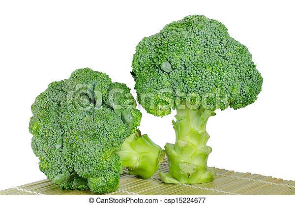 Broccoli on a white background - csp15224677