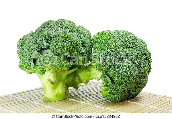 Broccoli on a white background - csp15224952
