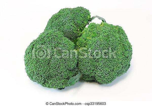broccoli on white background - csp33195603