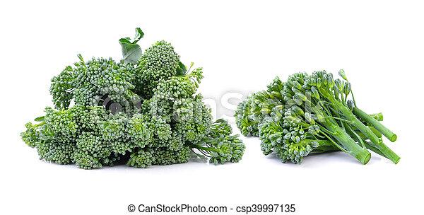 Broccoli on white background - csp39997135