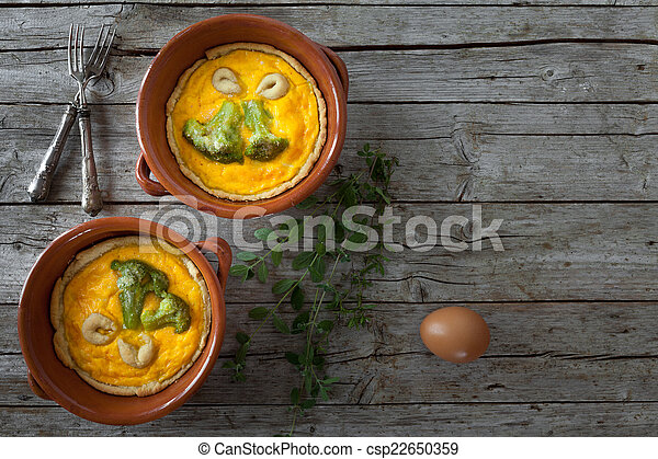 Broccoli Pies With Chedar Cheese And Saffron - csp22650359